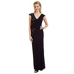 Ariella London - Black 'Caitlyn' bead embellished evening dress
