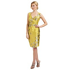 Ariella London - Gold 'Bethan' jacquard dress