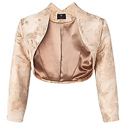 Ariella London - Pale peach 'Kori' jacquard jacket