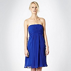 Debut - Bright blue twist front babydoll cocktail dress