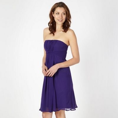 Debut Purple twist front babydoll cocktail dress - . -