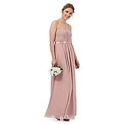 Debut - Pale pink ruched maxi dress
