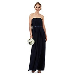 Debut - Navy ruched maxi dress