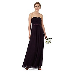 Debut - Purple ruched maxi dress