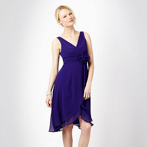 Debut - Purple double corsage babydoll cocktail dress