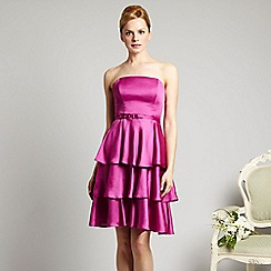Debut - Purple tiered bandeau cocktail dress