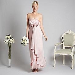 Debut - Light pink rose corsage evening maxi dress