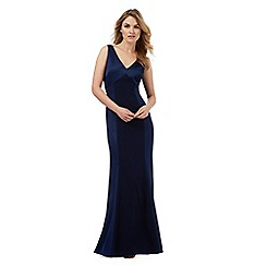 Debut - Navy floral lace trim maxi dress