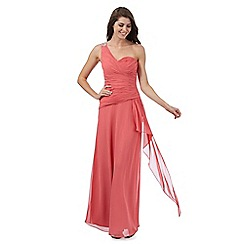Debut - Coral one shoulder maxi dress