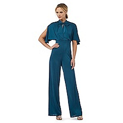 Debut - Green tie neck jumpsuit
