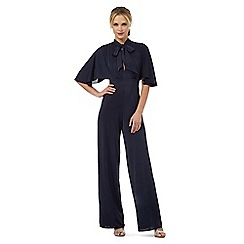 Debut - Dark blue tie neck jumpsuit