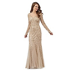 Debut - Gold sequinned maxi dress