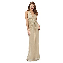 Debut - Gold shimmer textured maxi dress