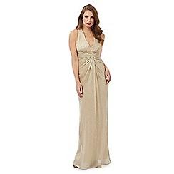 Debut - Gold shimmer textured maxi dress