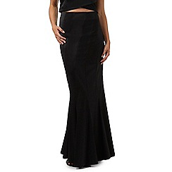 Debut - Black pleated longline skirt