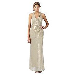 Debut - Gold shimmer maxi dress