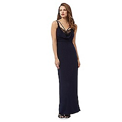 Debut - Navy lace trim maxi dress