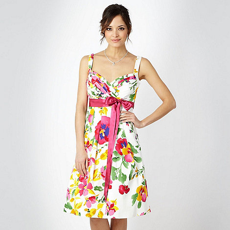 Debut - White floral prom dress