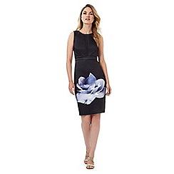 Debut - Navy moonflower print shift dress