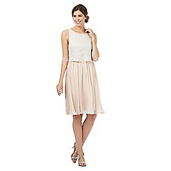 Debut - Light pink sequin embellished layered pleated dress