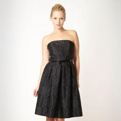 Debut Black circle jacquard bandeau dress - . -