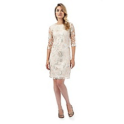 Debut - Ivory sequin tunic dress