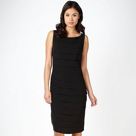 Debut - Black tiered shift cocktail dress
