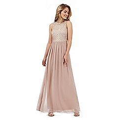 No. 1 Jenny Packham - Mid rose  beaded maxi dress