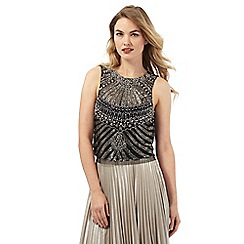 No. 1 Jenny Packham - Black and silver embellished sleeveless top