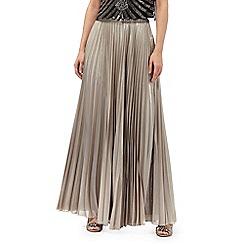 No. 1 Jenny Packham - Gold pleated maxi skirt