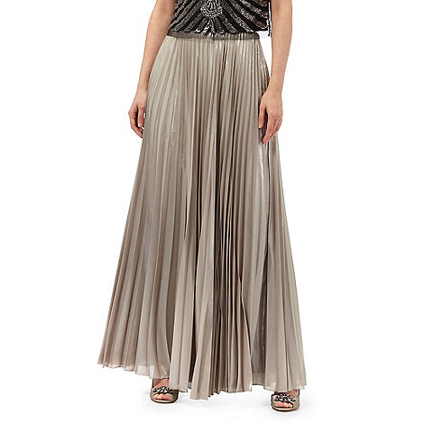 No. 1 Jenny Packham Gold pleated maxi skirt | Debenhams
