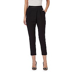 No. 1 Jenny Packham - Black slim leg cropped trousers