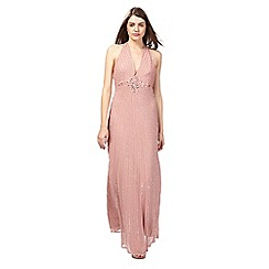No. 1 Jenny Packham - Pale pink beaded maxi dress