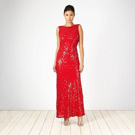 No. 1 Jenny Packham - Designer red sequin maxi dress