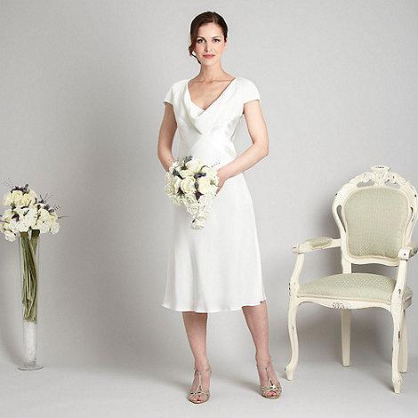 Debut - Ivory cowl neck cocktail dress