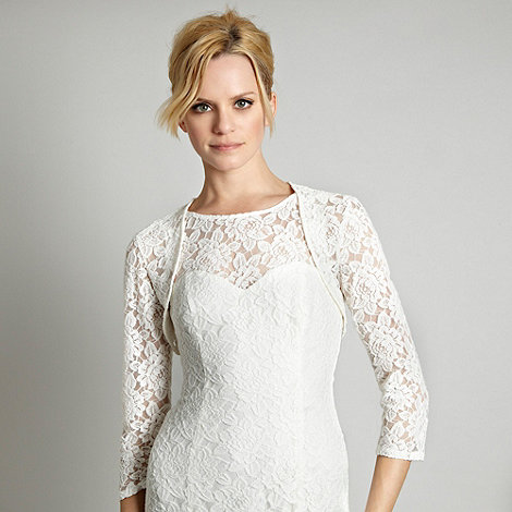 Debut - Cream floral lace cover up