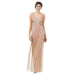 Butterfly by Matthew Williamson - Nude 'Imani' embellished evening dress