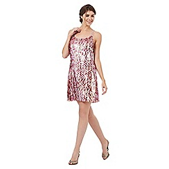 Butterfly by Matthew Williamson - Pink sequinned mini dress