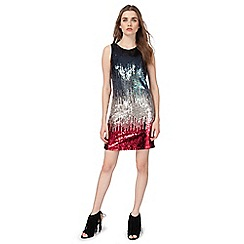 Butterfly by Matthew Williamson - Multi-coloured ombre sequin embellished shift dress