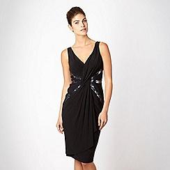 Pearce II Fionda - Designer black knot front sequin dress