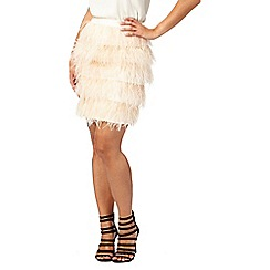 Butterfly by Matthew Williamson - Light pink feather skirt