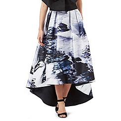 Siren by Giles Deacon - Multi-coloured swan print skirt