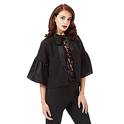 Siren by Giles Deacon - Black self tie bow cape