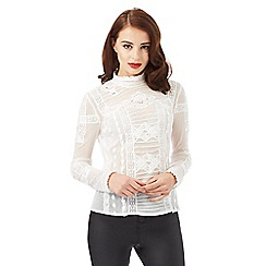 Siren by Giles Deacon - Ivory lace blouse