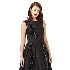 Siren by Giles Deacon - Black floral sequinned top