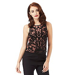 Siren by Giles Deacon - Black beaded top