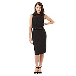 Siren by Giles Deacon - Black bow applique dress