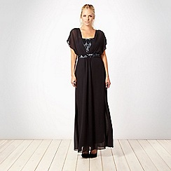 Principles by Ben de Lisi - Designer dark grey embellished maxi dress