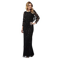 Ariella London - Black 'Marble' maxi dress