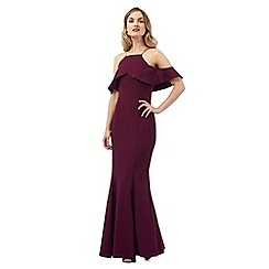 Ariella London - Dark purple 'Rita' maxi dress